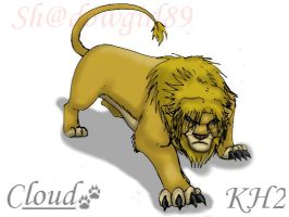 KH2 - Lion Cloud by Shadowgirl89