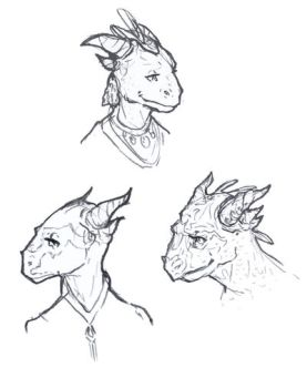 Some argonians sketch by Valanta