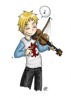 Quebec and his fiddle by roseannepage