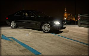 Mercedes Benz CLK 320 at Night by Ollidoro