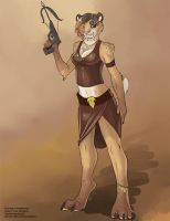[Blind Character Design] Tribal-Steampunk Smilodon by Ulario