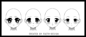 Manga Faces by Faeth-design