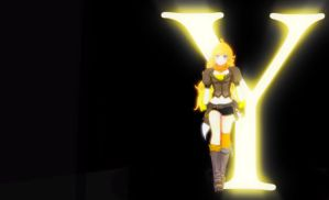 RWBY - YELLOW Simple Wallpaper by Shatterfish