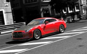 Nissan GTR on the move by yago174