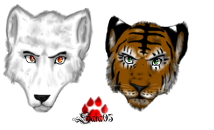 Tiger and wolf by blaxyd
