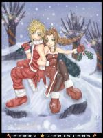 Aeris and Cloud Christmas by annuchan