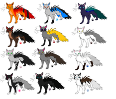 Free Adoptables batch 19 (Closed) by Kitty-of-Doom524