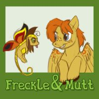 Freckle and Mutt by Kesomon