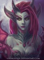 League of Legends Zyra by visualesque
