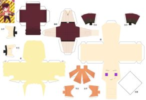 Hetalia Papercraft 2p! Germany by SumatraDjVero