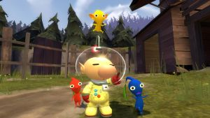 Olimar And His Pikmin by RudyThePhoenix