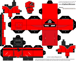 Cubee - Red Shadow 'Action Force' by CyberDrone