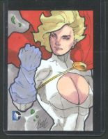 Power Girl 2014 DC Epic Battle AP Sketch Card by redgvicente