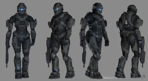 Spartan III Female Views by JasonMartin3D