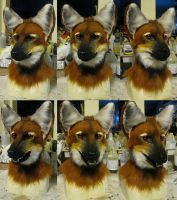 Maned wolf head by Crystumes