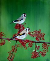 Goldfinches by WendyMitchell