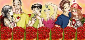 Strawberry Picking - PJO Canon by Thatu