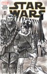 Viking Han Solo and Chewbacca Sketch Cover by timshinn73