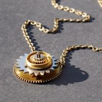 steampunk gears necklace by Tanith-Rohe