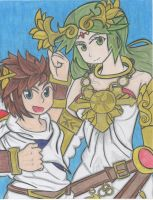 Pit and Palutena by Ronald0912