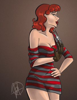 Pin up - Nightmare on Elm Street by M-nav