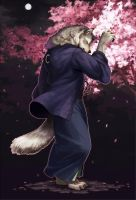 Werewolf of Japanese clothes by koutanagamori