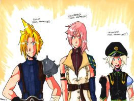 Cloud, Lightning, and Thunder by General-RADIX