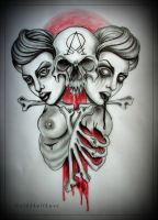 ALPHA and OMEGA  tattoo design by oldSkullLovebyMW