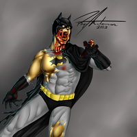 Zombie Batman by SilentDimension