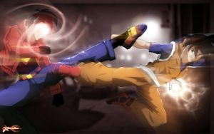Urban: Superman Vs Goku by xericho