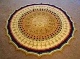 Treasures of The Sun King Afghan by koepr5333