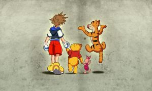 Kingdom Hearts - 100 acre wood by Vaikingu