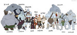 Ogkhun, the clan of Ice Ogres by Kawa-V