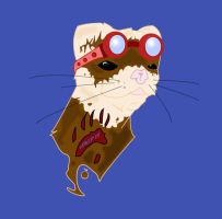 Ferret with Goggles by ShellShock92