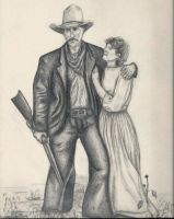 Cowboy and girl by MellsPics