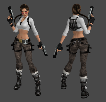 Lara Croft Archaeologist Outfit Update by spuros12 by spuros12
