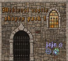 Medieval castle shapes pack 1 by jojo-ojoj