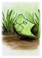 Metapod Sketch Card by melllic