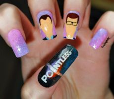 'Pointless' Nail Art by KayleighOC