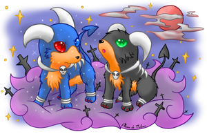 Cute Houndoom by Plume-de-Velours