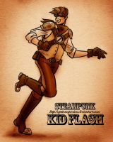 Steampunk Kid Flash by OptimusPraino