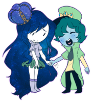 Hat Guy And Space Gal by pianobelt0