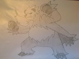 Pokemon - Pangoro by dewildbunbun