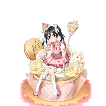 [Render #1] Love Live Nico On the cake by LoveLiveRenders