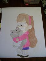 Mabel and her cat by AJLeefan4life