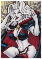Lady Death Sketch Card All-Stars AE by AmyClark
