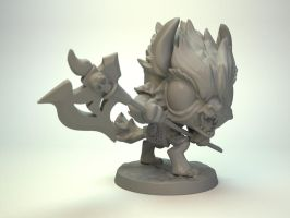 Gnoll for Impact Miniatures, 30mm mini by zelldweller
