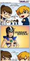 Not Quite Gundam Exia by anibunny