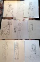 A collection of WIPs by BardicKitty