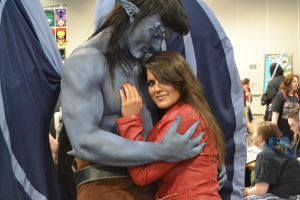 Gargoyles Goliath and Elisa Maza at DCC 2014 5 by PhoenixForce85